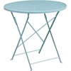 Flash Furniture 30'' Round Sky Blue Indoor-Outdoor Steel Folding Patio Table