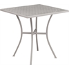 Flash Furniture 28'' Square Light Gray Indoor-Outdoor Steel Patio Table
