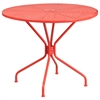 Flash Furniture 35.25'' Round Coral Indoor-Outdoor Steel Patio Table