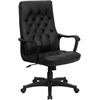 Flash Furniture High Back Traditional Black Leather Executive Swivel Office Chair