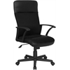 High Back Black Leather and Mesh Executive Swivel Office Chair