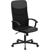 Flash Furniture High Back Black Vinyl and Black Mesh Racing Executive Swivel Office Chair