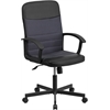 Flash Furniture Mid-Back Black Vinyl and Dark Gray Mesh Racing Executive Swivel Office Chair