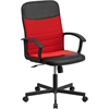 Flash Furniture Mid-Back Black Vinyl and Red Mesh Racing Executive Swivel Office Chair