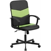 Flash Furniture Mid-Back Black Vinyl and Green Mesh Racing Executive Swivel Office Chair