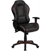 High Back Marrone Eklipsis Brown Vinyl Executive Swivel Office Chair with Inner-Coil Spring Comfort Seat and Brown Base
