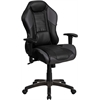 Flash Furniture High Back Storm Gray Vinyl Executive Swivel Office Chair with Inner-Coil Spring Comfort Seat and Gray Base