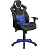 Flash Furniture High Back Monterey Blue Vinyl Executive Swivel Office Chair with Inner-Coil Spring Comfort Seat and Blue Base