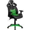 Flash Furniture High Back Verde Mantis Green Vinyl Executive Swivel Office Chair with Inner-Coil Spring Comfort Seat and Green Base