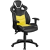 High Back Canary Yellow Executive Gaming-Racing Swivel Chair with Comfort Coil Seat Springs and Black Base