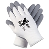 Memphis Ultra Tech Foam Seamless Nylon Knit Gloves, Extra Large, White/Gray, Pair