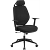 Flash Furniture High Back Black Fabric Executive Swivel Office Chair with Height Adjustable Headrest