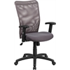 Flash Furniture High Back Gray Mesh Executive Ergonomic Swivel Office Chair with Arms
