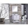 """Norway 24"""" Single Sink Bathroom Vanity Set, White"""