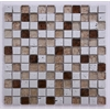 Mix Tile, Silver Gold & Brown