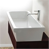 35.5 Inch Rectangular Italian Fireclay Vessel Sink