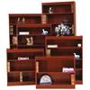 "Contemporary 72""H wood veneer bookcase, Medium Cherry"