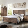 Andria California King Bed, Reclaimed Oak