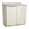 Hospitality Base Cabinet, Two Door Vanilla Stix/Grey