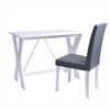 Techni Mobili Modern Matching Desk and Chair Set. Colors: White,Grey