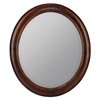 Chelsea Oval Mirror, Tobacco Finish, Beveled Mirror