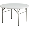 Flash Furniture 48'' Round Bi-Fold Granite White Plastic Folding Table