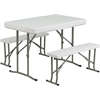 Plastic Folding Table and Benches
