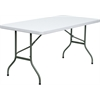 30''W x 60''L Granite White Plastic Folding Table
