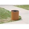 Frog Furnishings 55 Gal. Cedar Standard Round Receptacle