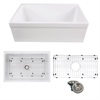 Nantucket Sinks' Yarmouth-30BG Decorative Apron Farmhouse Fireclay Sink with Grid and Drain