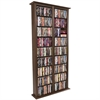 Media Storage Tower-Tall Double, 52 x 9-1/2 x 76, Walnut