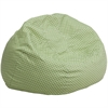 Flash Furniture Oversized Green Dot Bean Bag Chair