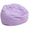 Flash Furniture Personalized Oversized Lavender Dot Bean Bag Chair