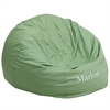 Flash Furniture Personalized Oversized Solid Green Bean Bag Chair