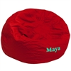 Personalized Oversized Solid Red Bean Bag Chair