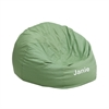 Flash Furniture Personalized Small Solid Green Kids Bean Bag Chair