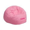 Flash Furniture Personalized Small Solid Light Pink Kids Bean Bag Chair