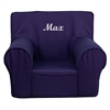 Flash Furniture Personalized Small Solid Navy Blue Kids Chair
