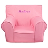 Personalized Small Solid Light Pink Kids Chair