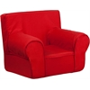 Small Solid Red Kids Chair