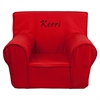 Personalized Small Solid Red Kids Chair