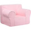 Flash Furniture Oversized Light Pink Dot Kids Chair with White Piping