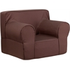 Flash Furniture Oversized Solid Brown Kids Chair
