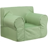 Flash Furniture Oversized Solid Green Kids Chair