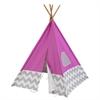 KidKraft Play Teepee - Pink & Gray Chevron
