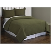 Ashton Green Herringbone Stitch 3 piece Quilt Set Full/Queen, Green