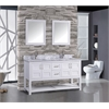 "Norway 60"" Double Sink Bathroom Vanity Set, White"