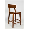 "24"" Hagen Counter Stool, Zebra Series, Zebrano Rich Walnut"