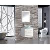 """MTD Vanities Cuba 24"""" Single Sink Wall Mounted Bathroom Vanity Set, White"""