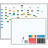 "Economy Planner Board Kit - 48"" x 36"" - Steel, Aluminum - White"